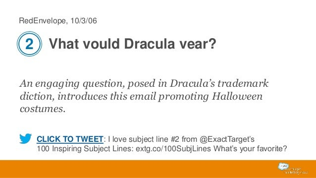 RedEnvelope, 10/3/06  2 Vhat vould Dracula vear? An engaging question, posed in Dracula's trademark diction, introduces th...