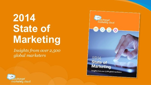 2014 State of Marketing Insights from over 2,500 global marketers