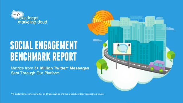 SOCIAL ENGAGEMENT  BENCHMARK REPORT  Metrics from 3+ Million Twitter* Messages  Sent Through Our Platform  *All trademarks...