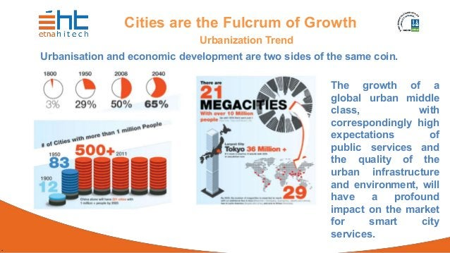 . Cities are the Fulcrum of Growth Urbanization Trend Urbanisation and economic development are two sides of the same coin...