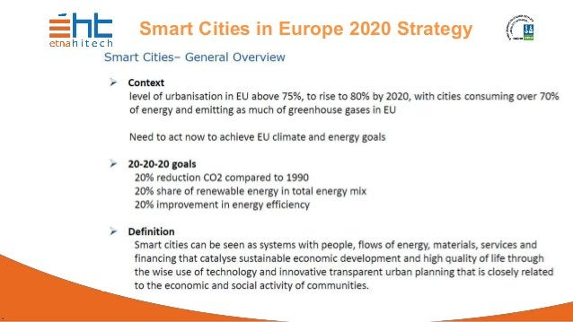 . Smart Cities in Europe 2020 Strategy