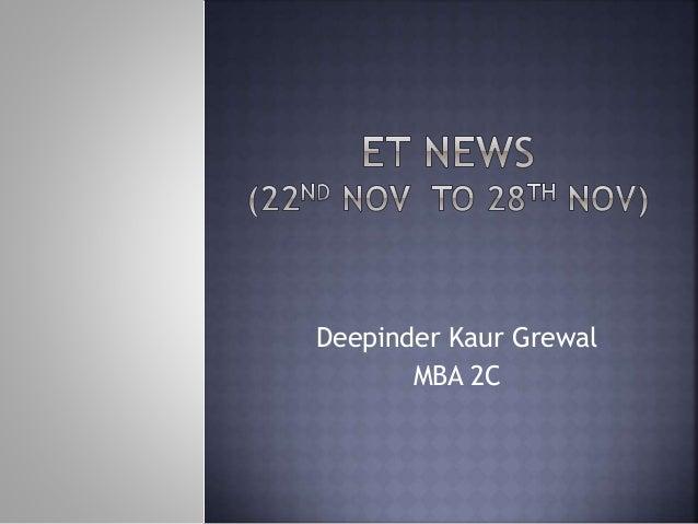 Deepinder Kaur Grewal MBA 2C
