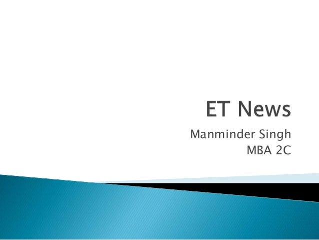 Manminder Singh MBA 2C