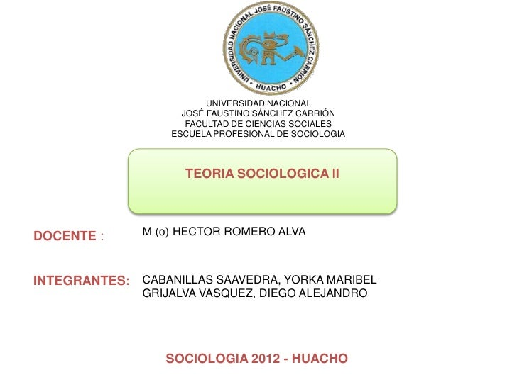 UNIVERSIDAD NACIONAL                    JOSÉ FAUSTINO SÁNCHEZ CARRIÓN                     FACULTAD DE CIENCIAS SOCIALES   ...