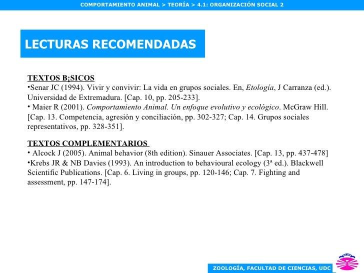 LECTURAS RECOMENDADAS <ul><li>TEXTOS BÁSICOS </li></ul><ul><li>Senar JC (1994). Vivir y convivir: La vida en grupos social...