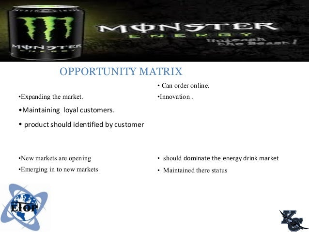 monster energy marketing essay View essay - monster marketing from fin 1300 at babson college marketing business environment monster beverages operates in the energy drink industry, a branch from the general soft drinks industry.