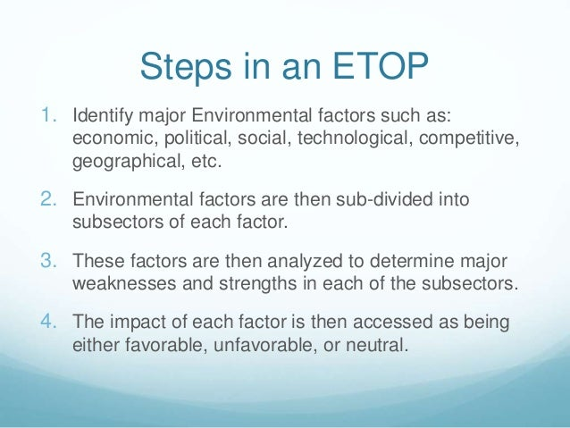 Etop analysis.