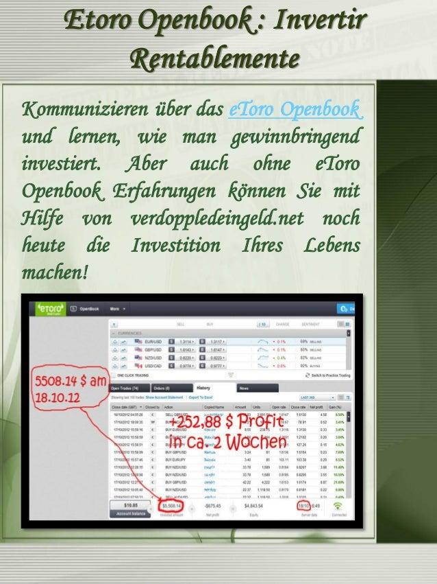 eToro Openbook macht Traden einfach und unkompliziert!  Das eToro Openbook ist zwar eine tolle Sache, aber für den Laien n...