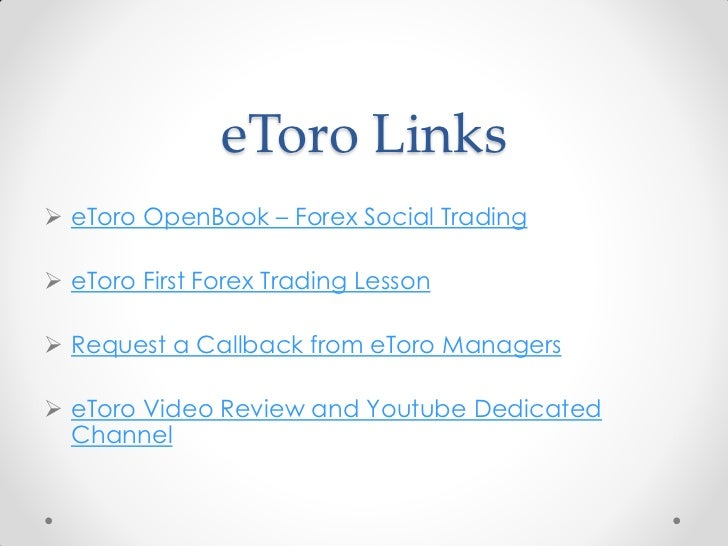 Etoro forex demo account