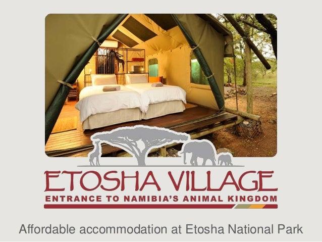 Affordable accommodation at Etosha National Park