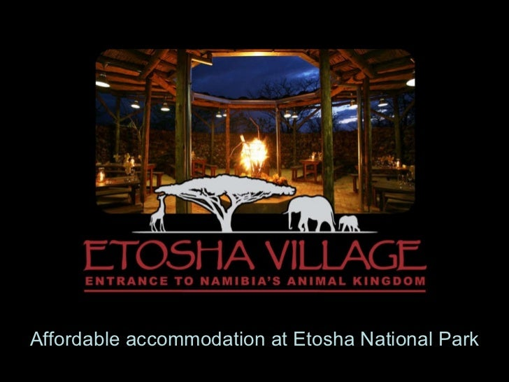 Affordable accommodation at Etosha National Park