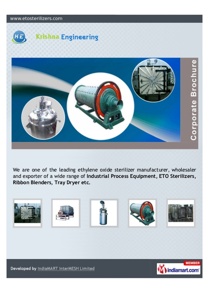 We are one of the leading ethylene oxide sterilizer manufacturer, wholesalerand exporter of a wide range of Industrial Pro...