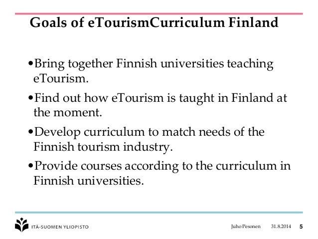 eTourism Curriculum Finland