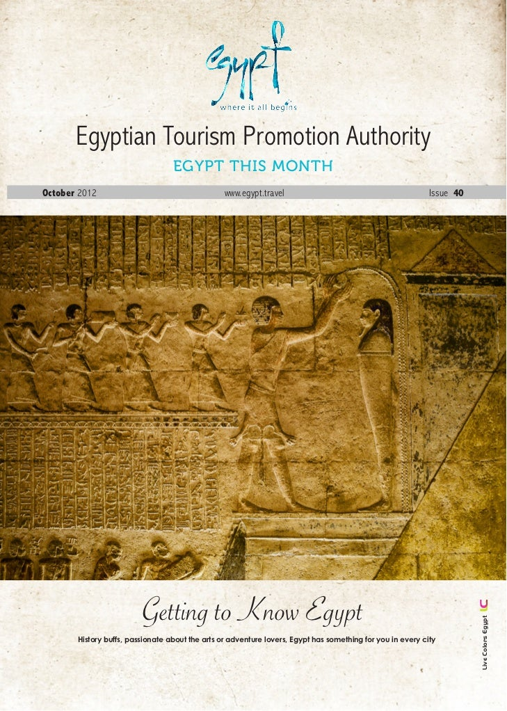 Egyptian Tourism Promotion Authority                                  Egypt this MonthOctober 2012                        ...