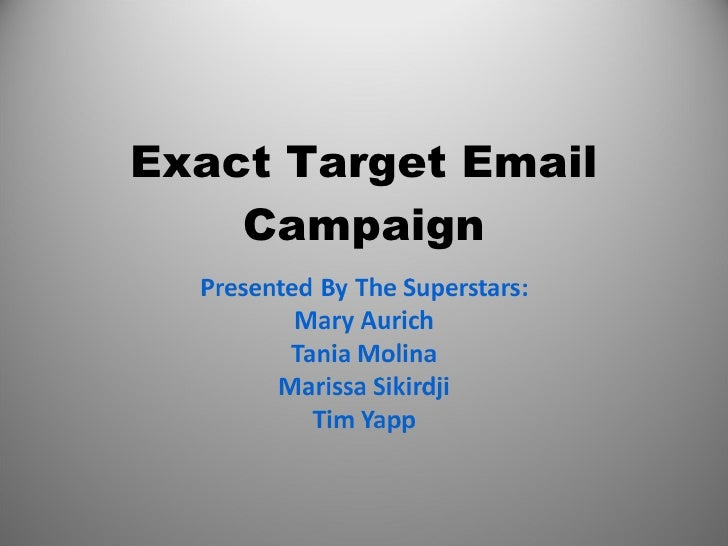 Exact Target Email Campaign