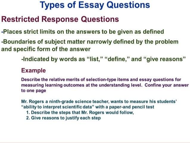 Essat Type Question