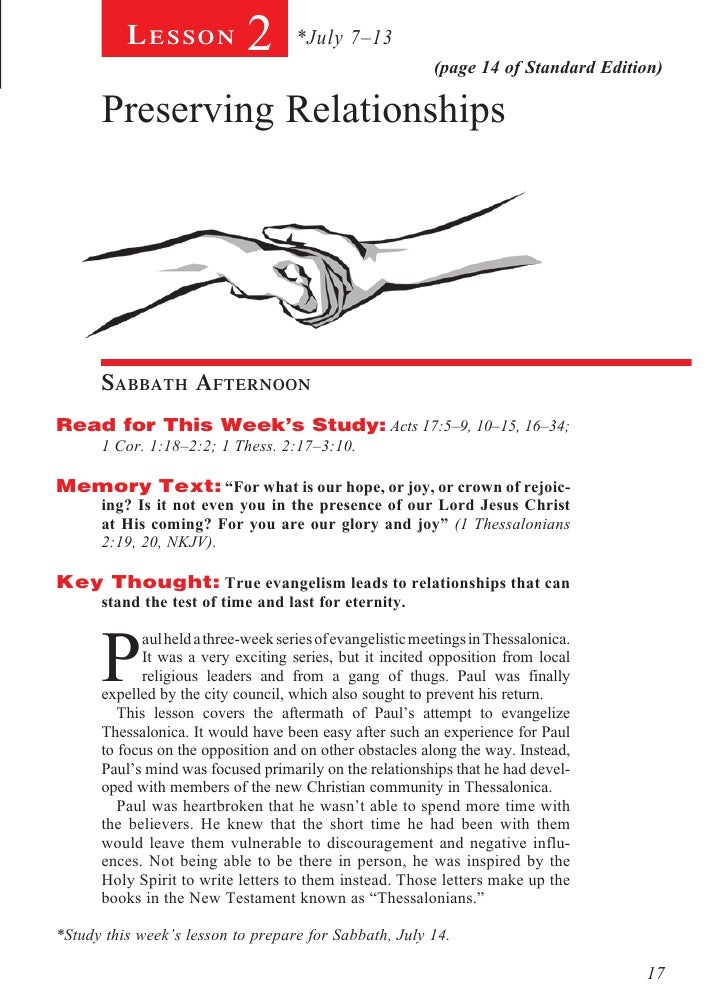 Lesson           2       *July 7–13                                                           (page 14 of Standard Edition...
