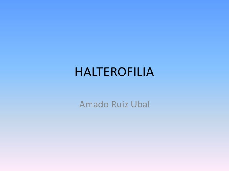 HALTEROFILIA<br />Amado Ruiz Ubal<br />