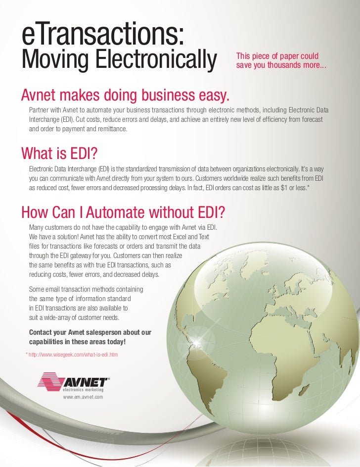eTransactions:Moving Electronically                                                                  This piece of paper c...