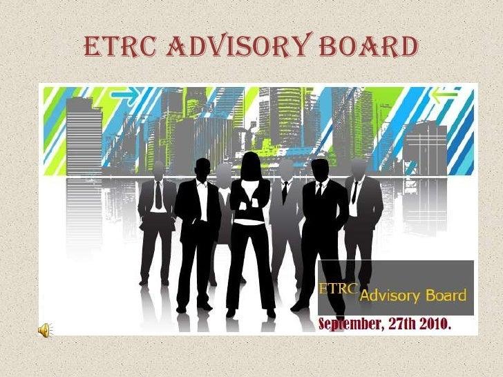 ETRC ADVISORY BOARD<br />