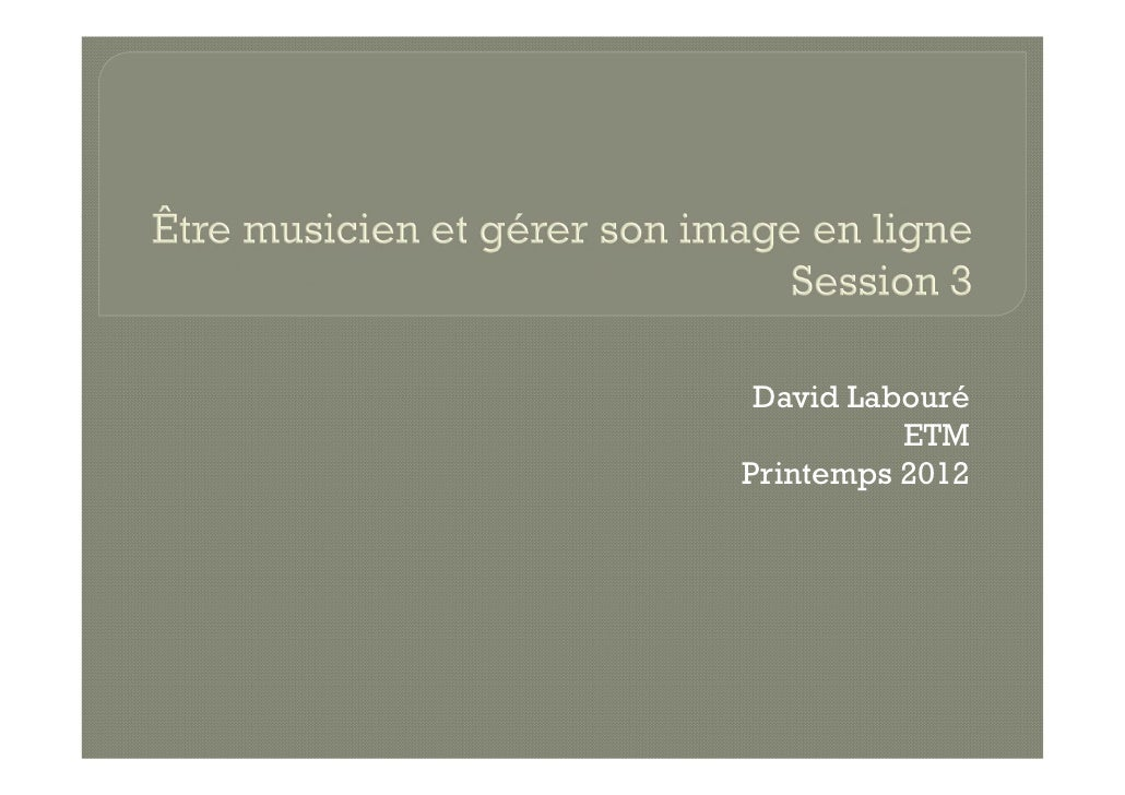 David Labouré          ETMPrintemps 2012