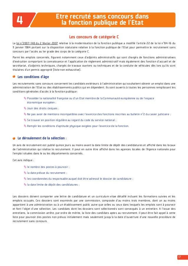 Guide etre recrut dans la fonction publique dgafp 2014 - Grille d avancement fonction publique territoriale ...