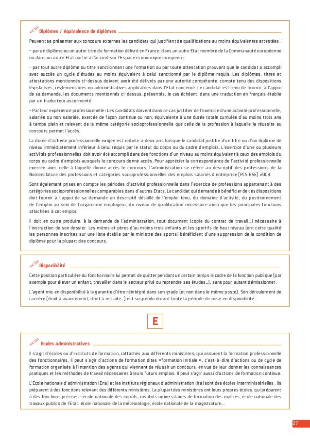 Guide Etre Recrute Dans La Fonction Publique Dgafp 2014