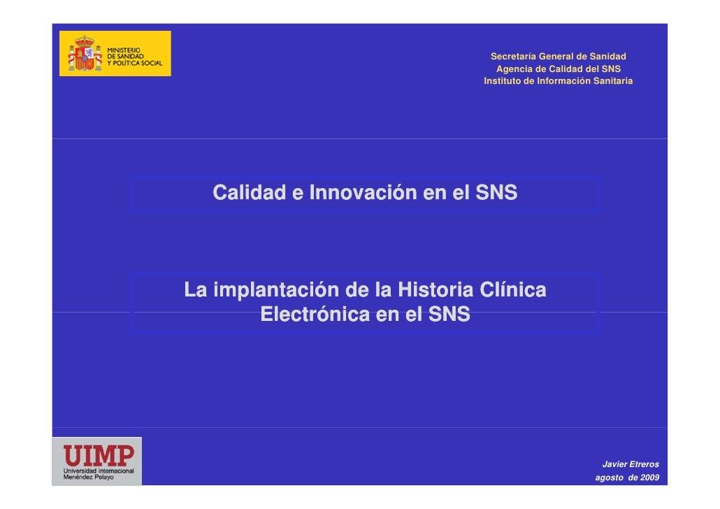 Secretaría General de Sanidad                                   Agencia de Calidad del SNS                                ...
