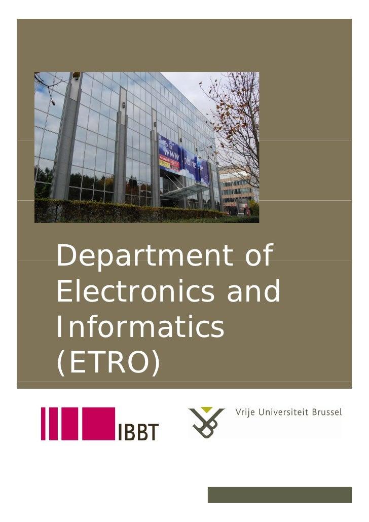Department of      Electronics and      Informatics      (ETRO)   19/12/2007        1