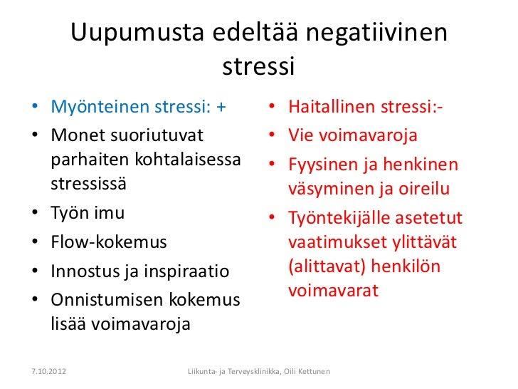 Stressi Fyysiset Oireet