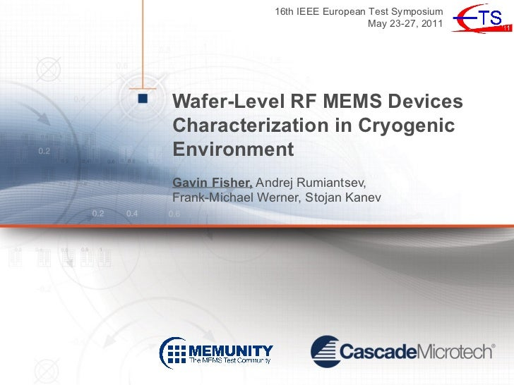 16th IEEE European Test Symposium                                   May 23-27, 2011Wafer-Level RF MEMS DevicesCharacteriza...