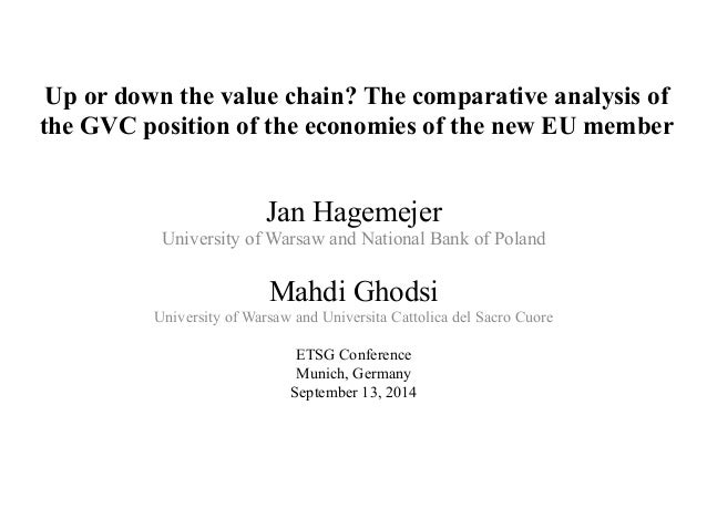 Up or down the value chain? The comparative analysis of the GVC position of the economies of the new EU member Jan Hagemej...