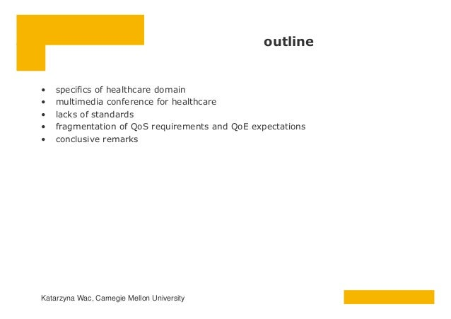 QoS and QoE for medical applications Slide 2