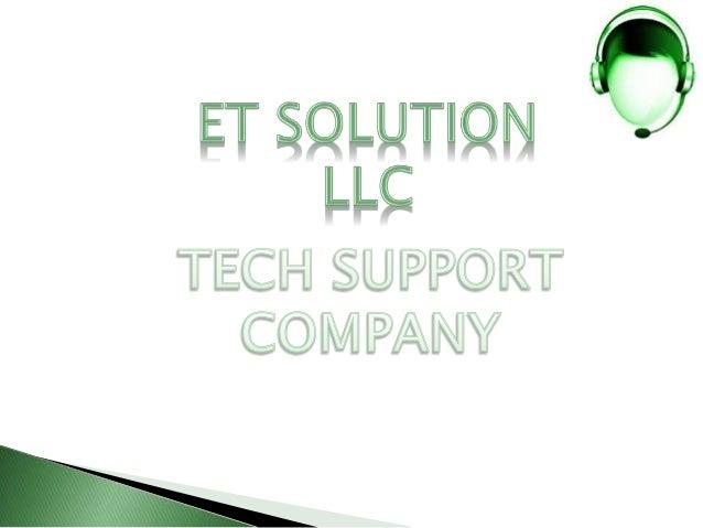 Et Solutions LLC | Online Tech Support Service