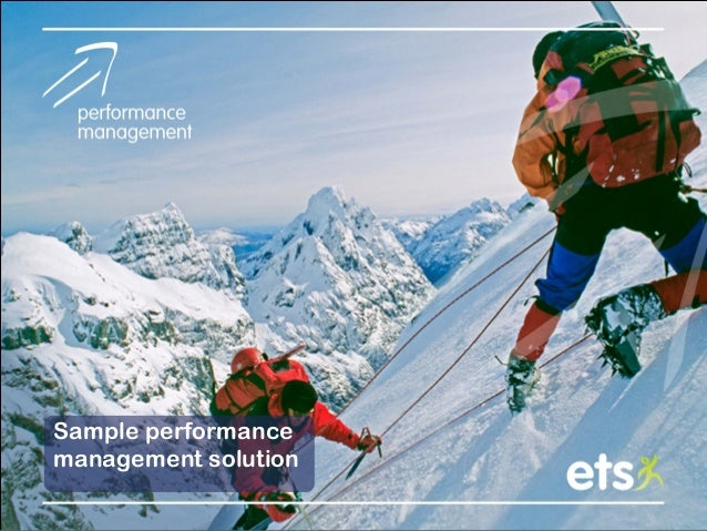 Sample performance management solution