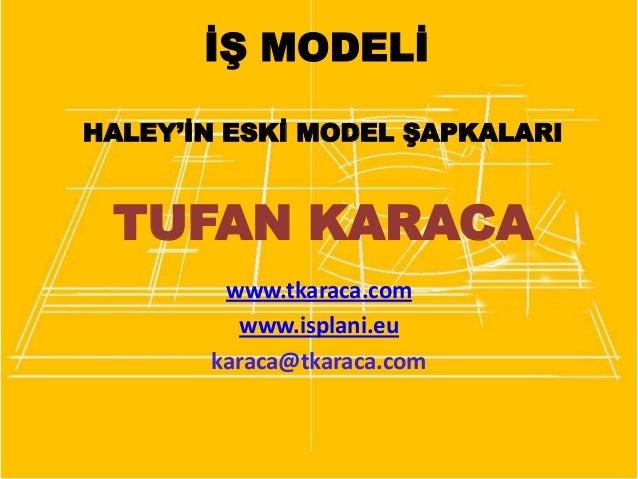 İŞ MODELİ HALEY'İN ESKİ MODEL ŞAPKALARI  TUFAN KARACA www.tkaraca.com www.isplani.eu karaca@tkaraca.com