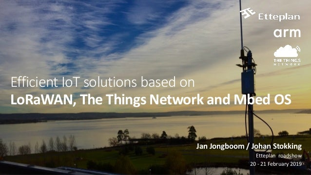 Efficient IoT solutions based on LoRaWAN, The Things Network