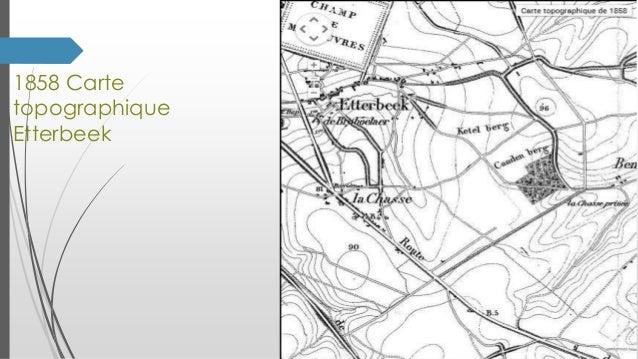 1858 Carte topographique Etterbeek