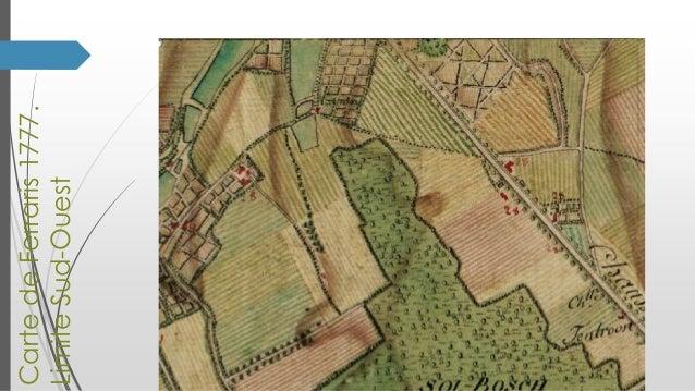 Carte de Ferraris 1777. Limite Sud-Ouest