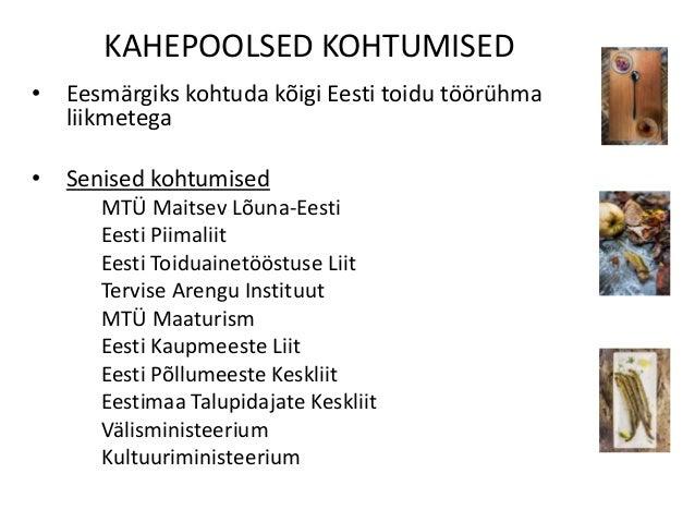 Eesti toidu arengukava koostamise protsess Slide 3