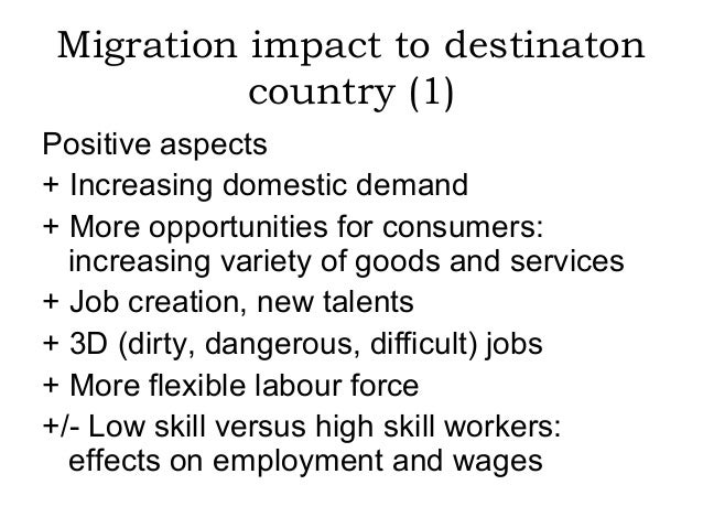 social impact of migration This paper provides a review of the literature on the development impact of migration and remittances on origin countries and on destination countries in the south.