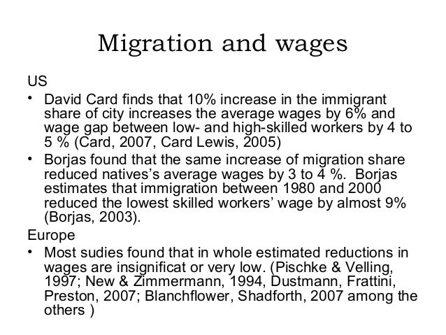 effect of migration on the economy Abstract this paper surveys recent empirical studies on the economic impacts of immigration the survey first examines the magnitude of immigration as an economic phenomenon in various host countries the second part deals with the assimilation of immigrant workers into host'country labor markets and concomitant.