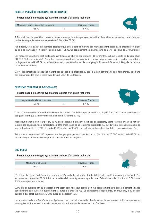 PARIS ET PREMIÈRE COURONNE (ILE-DE-FRANCE) A Paris et dans la première couronne, le pourcentage de ménages ayant acheté au...