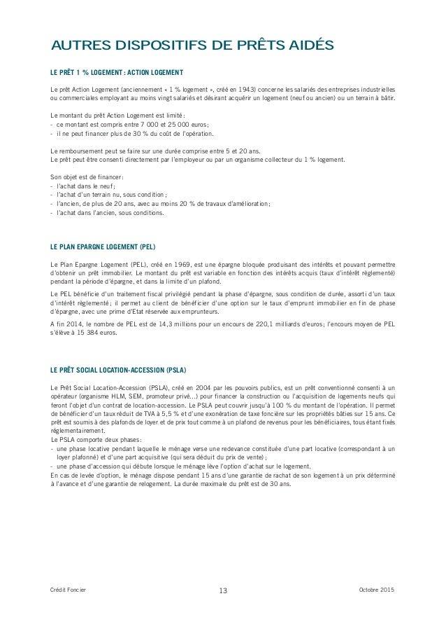 Etude credit foncier sur l 39 accession sociale en france for Pret accession logement