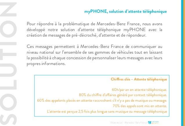 SOLUTION Etude de cas - Mercedes-Benz France Pour répondre à la problématique de Mercedes-Benz France, nous avons développ...