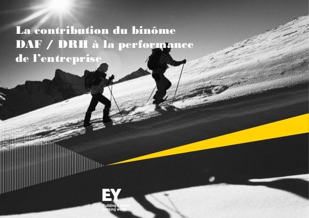 La contribution du binôme DAF / DRH à la performance de l'entreprise