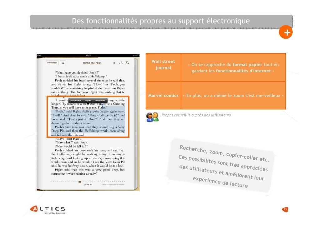 Des fonctionnalités propres au support électronique                                                                       ...
