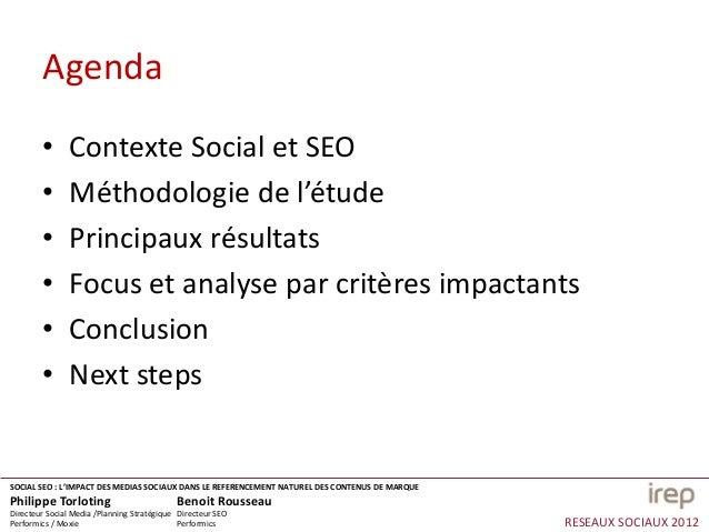 Social SEO, l'impact des medias sociaux dans le référencement naturel des contenus de marques Slide 2
