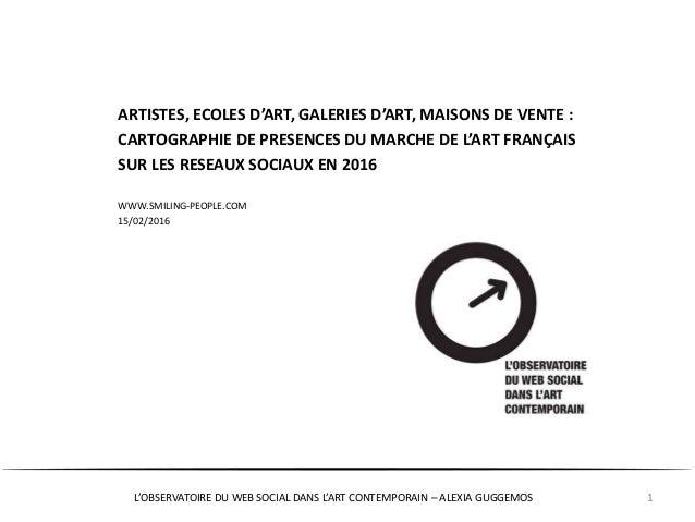L'OBSERVATOIRE DU WEB SOCIAL DANS L'ART CONTEMPORAIN – ALEXIA GUGGEMOS 1 ARTISTES, ECOLES D'ART, GALERIES D'ART, MAISONS D...