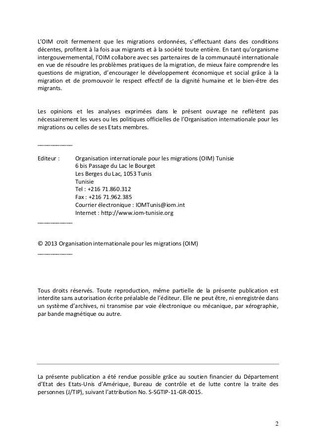 Etude exploratoire sur la traite des personnes en Tunisie Slide 2